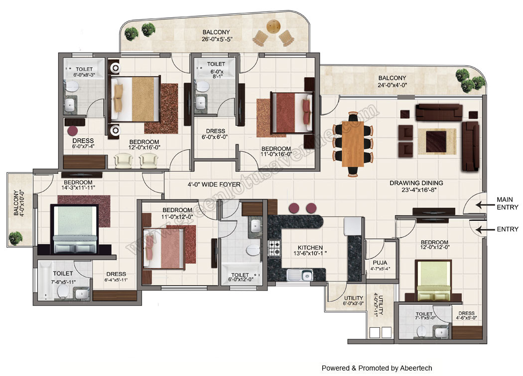 5 bhk flats in zirakpur