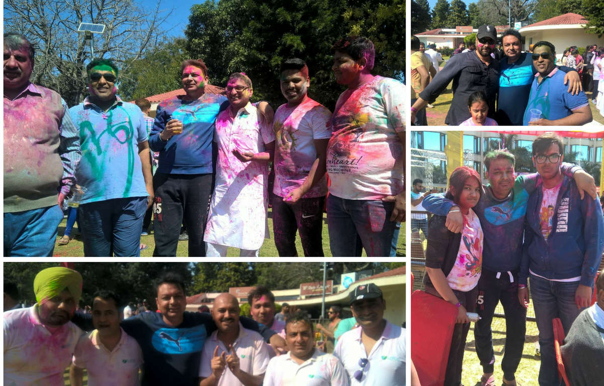 Holi-Celebration Green Lotus Avenue Family