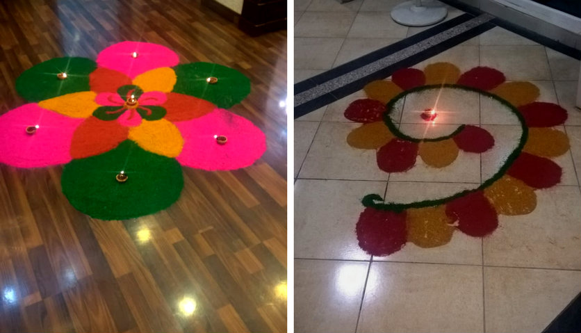 diwali celebration collage